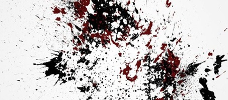 Ink Splatter Design Photoshop Brush