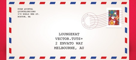 Quick Tip: How to make Air Mail Envelope In Illustrator