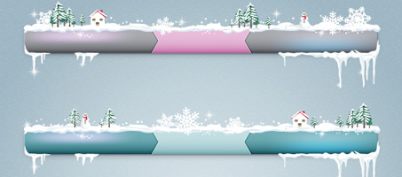 Transform Your Website's Menu Bars Into a Winter Wonderland in Adobe Illustrator