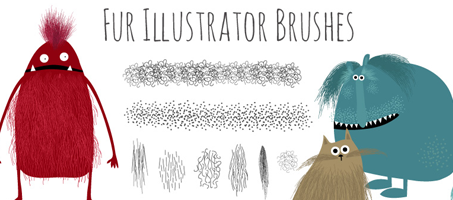 Free Hairy Fur Illustrator Brushes