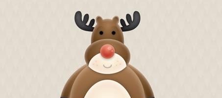 Create a Cute Vector Reindeer Character