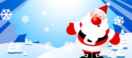 Dancing Santa Claus and Christmas Tree
