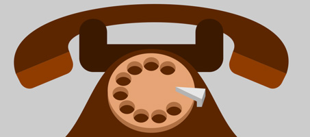 Vector Old Telephone Icon